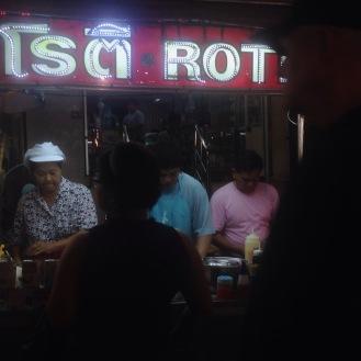 Roti stand in Hua Hin Night Market