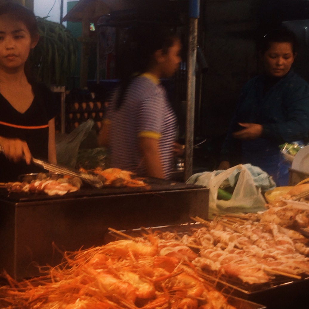 Incredible seafood stall in Hua Hin Night Market