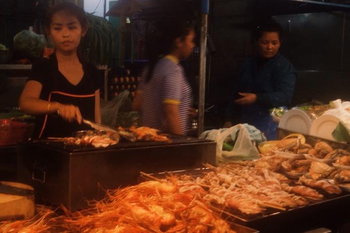 Incredible seafood stall in Hua Hin Night Market