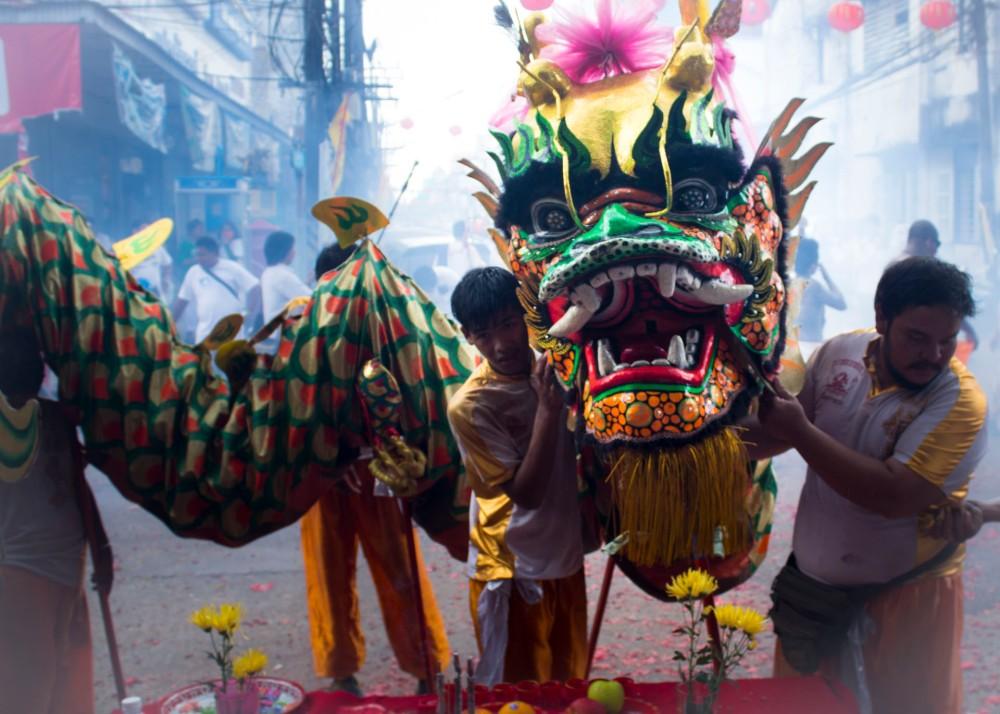 Chinese Dragon at the Vegetarian Festival Phuket